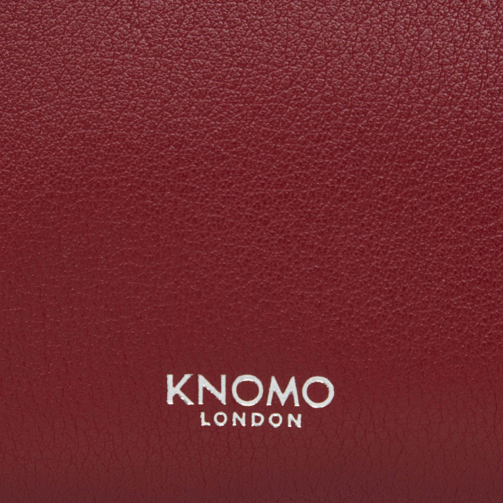 "Leather Tech Organiser 10.5"" - Burgundy 