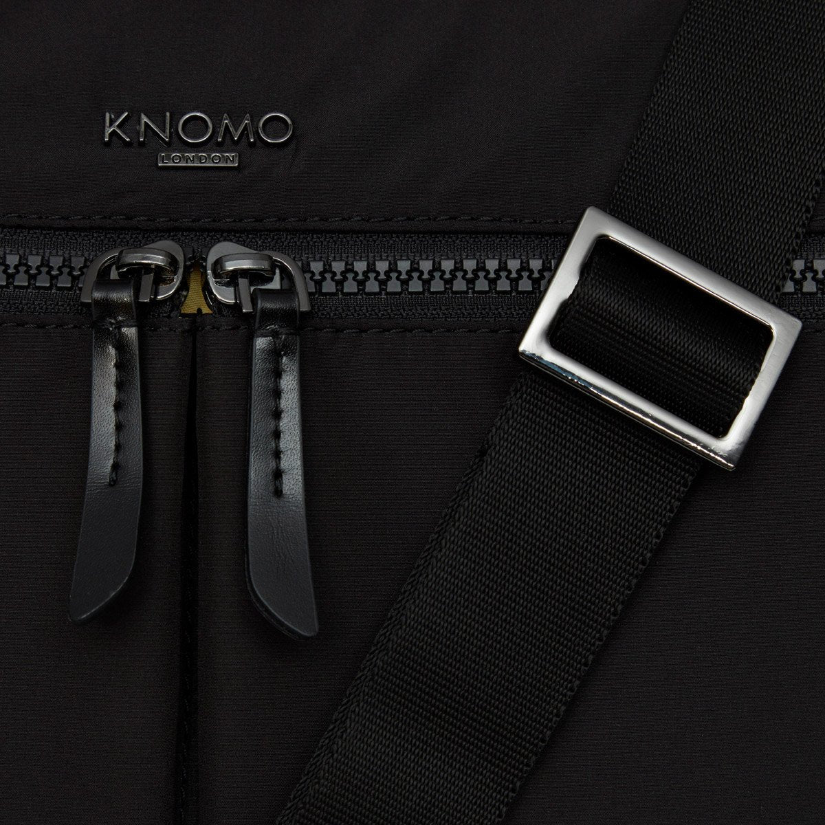 "KNOMO Copenhagen Laptop Briefcase Clip And Zip Detail 14"" -  Black 
