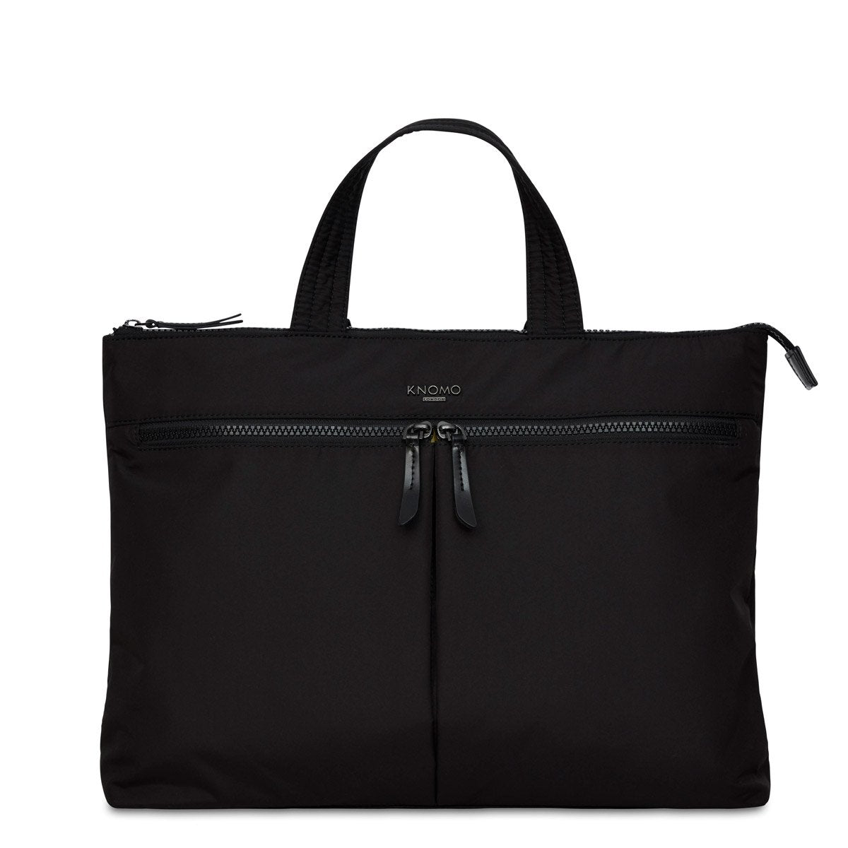 "KNOMO Copenhagen Laptop Briefcase From Front 14"" -  Black 