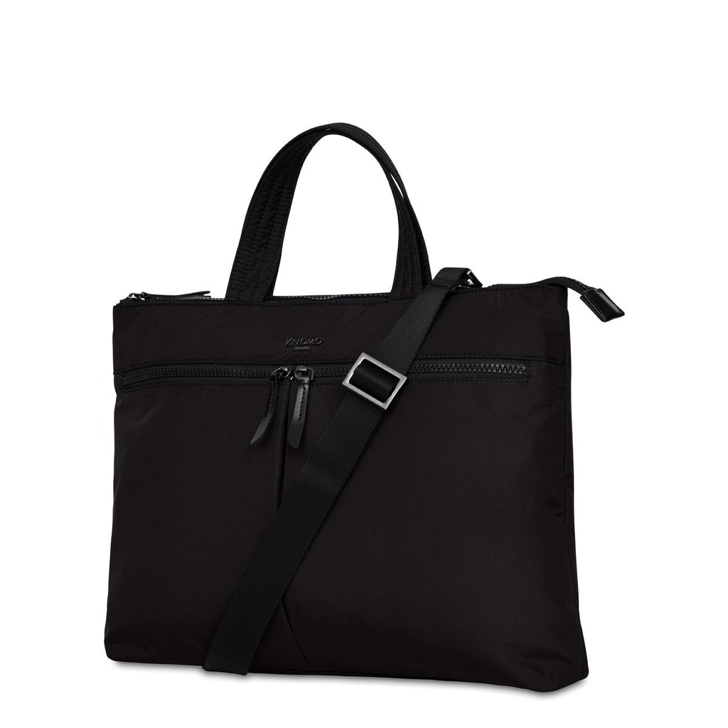 "Copenhagen Womens 14"" Slim Laptop Briefcase - Black – KNOMO"