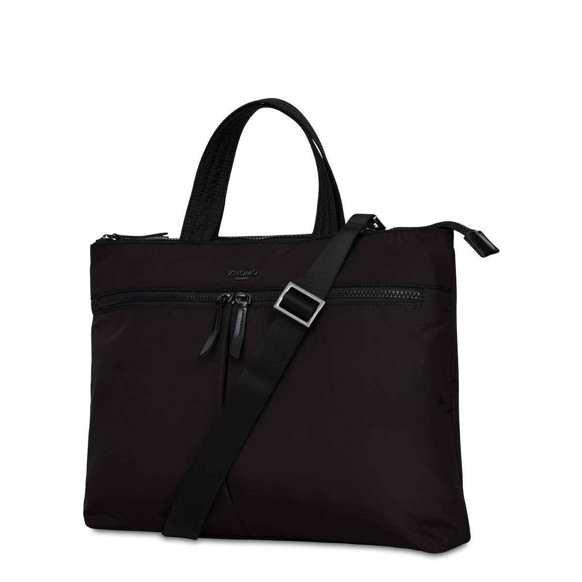"KNOMO Copenhagen Laptop Briefcase Three Quarter View 14"" -  Black 