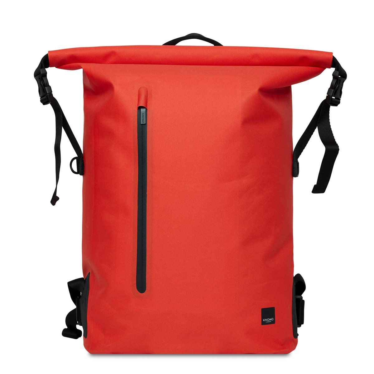 Knomo cromwell mens laptop backpack org front unrolled