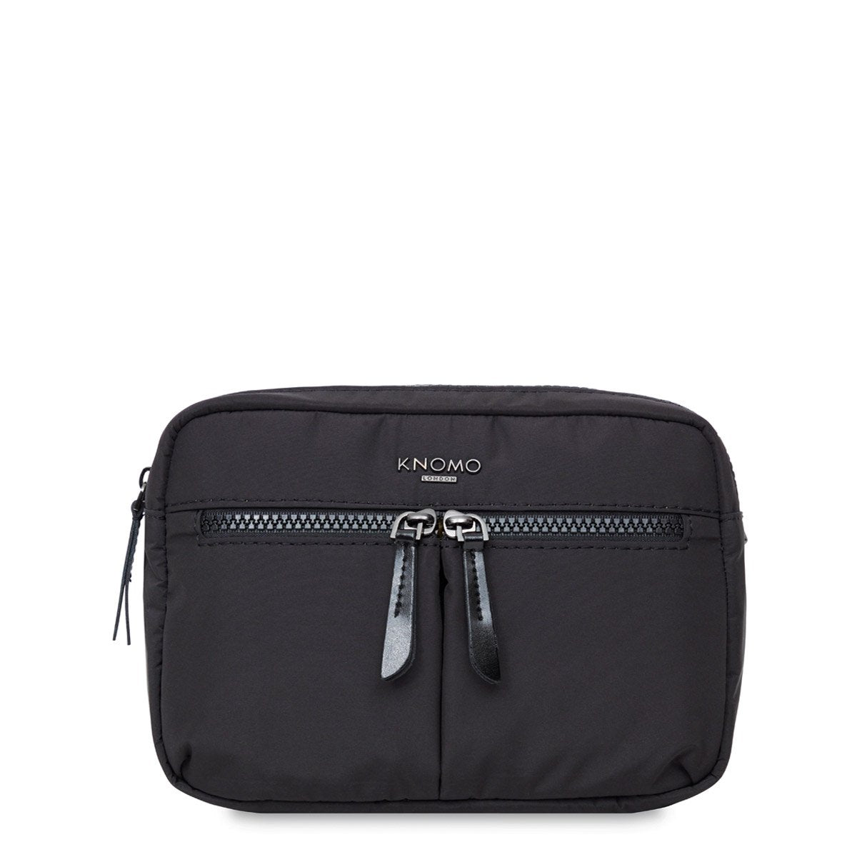 "KNOMO Palermo Ultra Lightweight X-Body From Front 10.5"" -  Black 