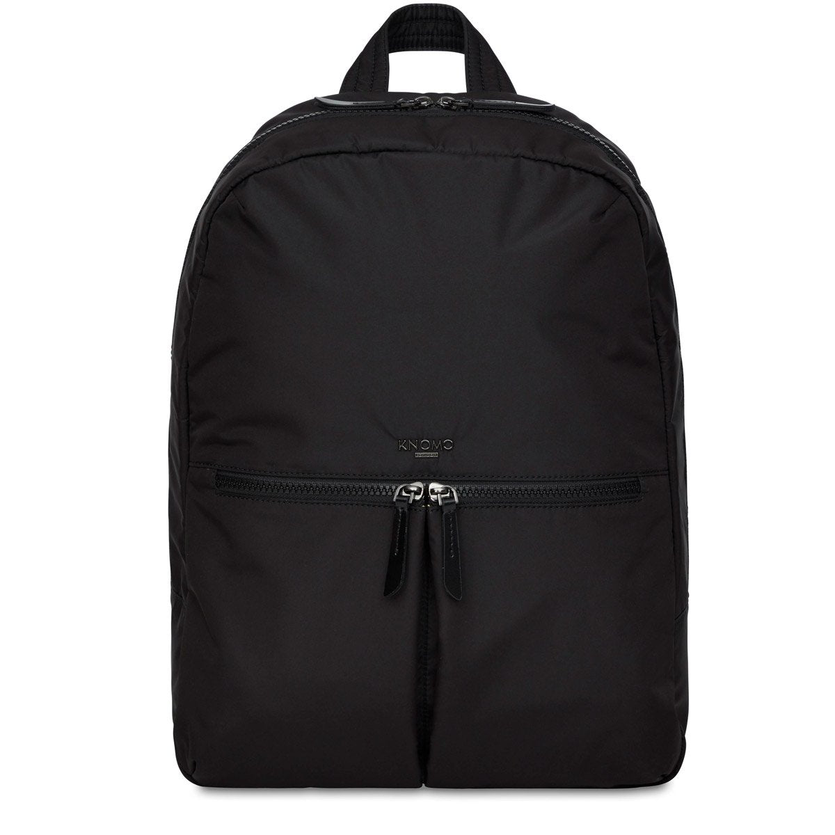 "KNOMO Berlin Laptop Backpack From Front 15"" -  Black 