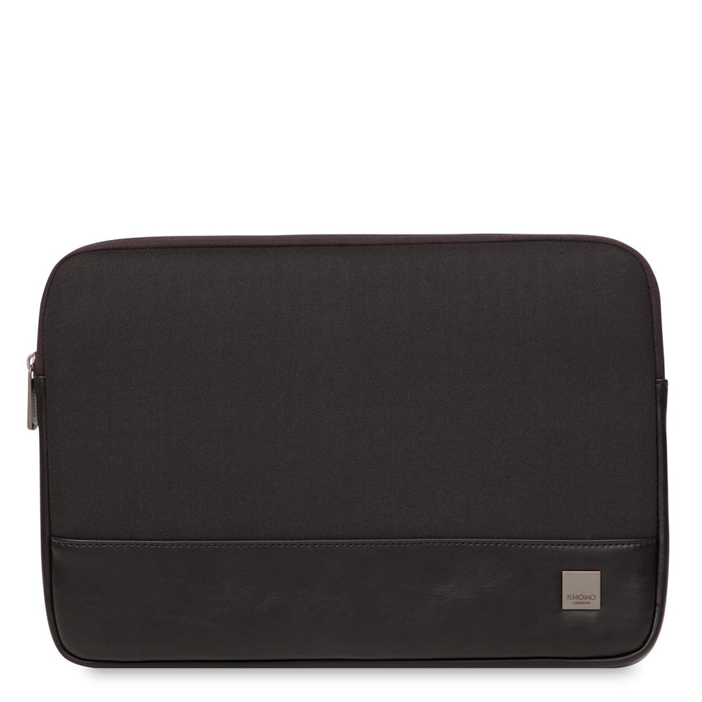 "Herringbone 13"" Laptop Sleeve for MacBook and Ultrabook - Black – KNOMO"