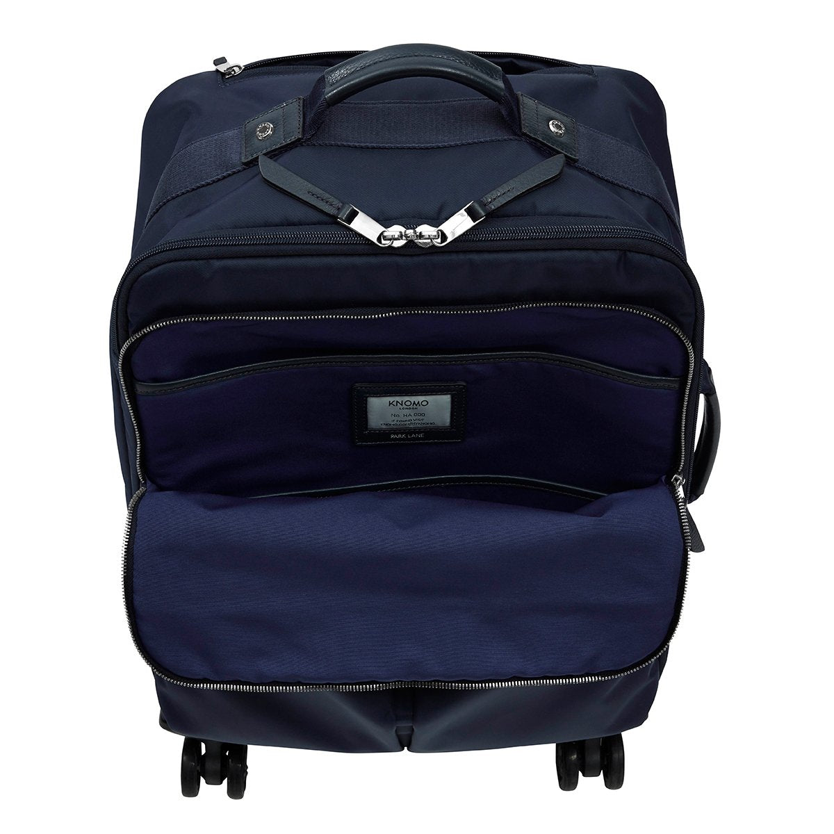 "KNOMO Park Lane Boarding Tote Front Pocket Empty 15"" -  Dark Navy 