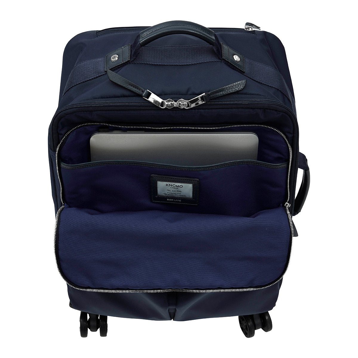 "KNOMO Park Lane Boarding Tote Front Pocket With Laptop 15"" -  Dark Navy 