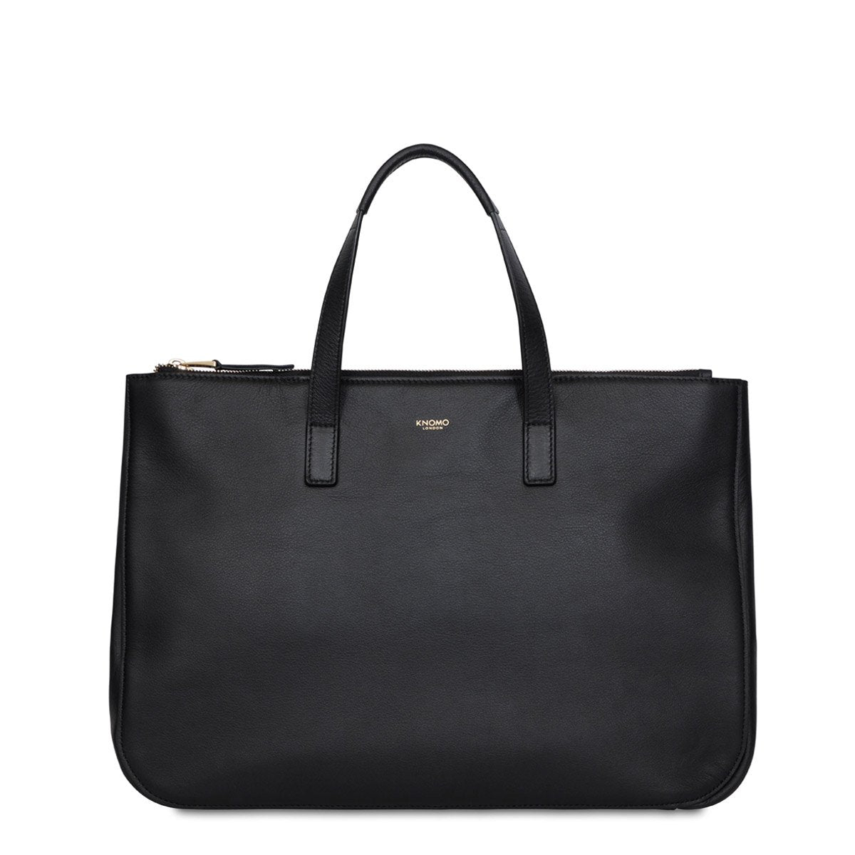 Mayfair luxe derby leather tote 14  120 206 blk front