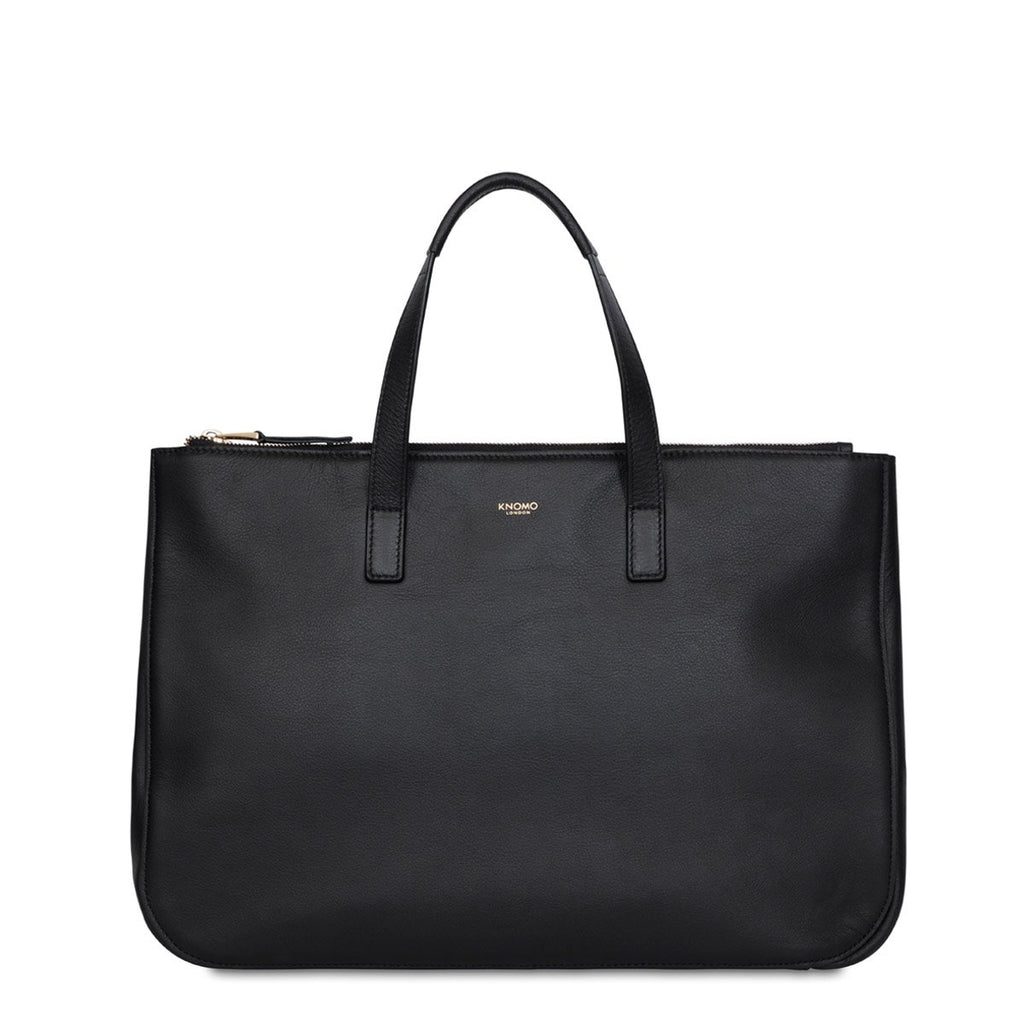 "Derby Women's Leather 13"" Tote - Black 