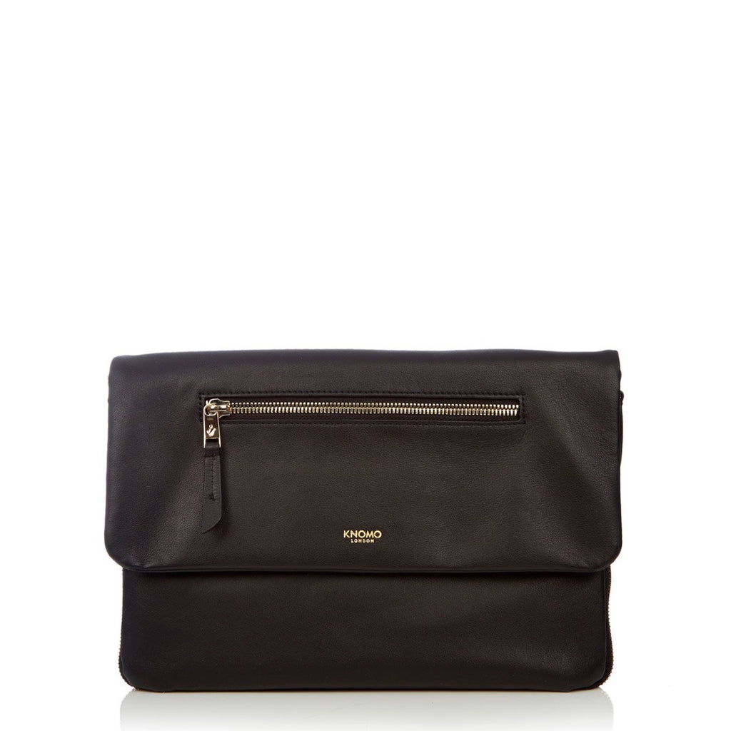 "Elektronista 10"" Leather Cross Body Tablet Clutch Bag - Black 