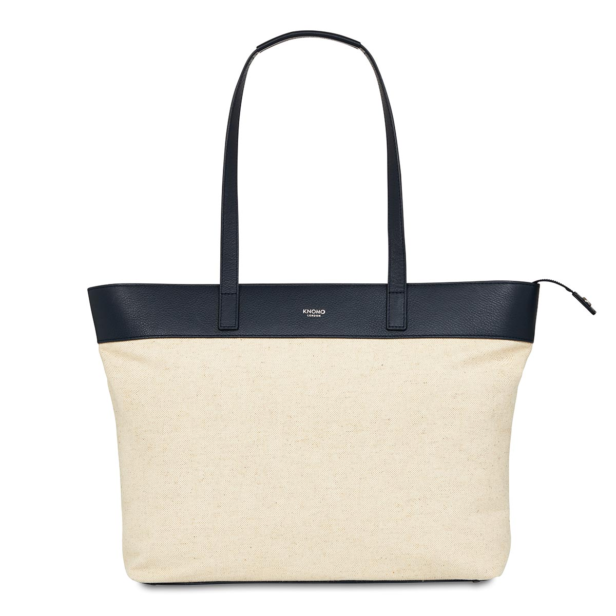 "KNOMO Maddox Laptop Tote From Front 15"" -  Natural 