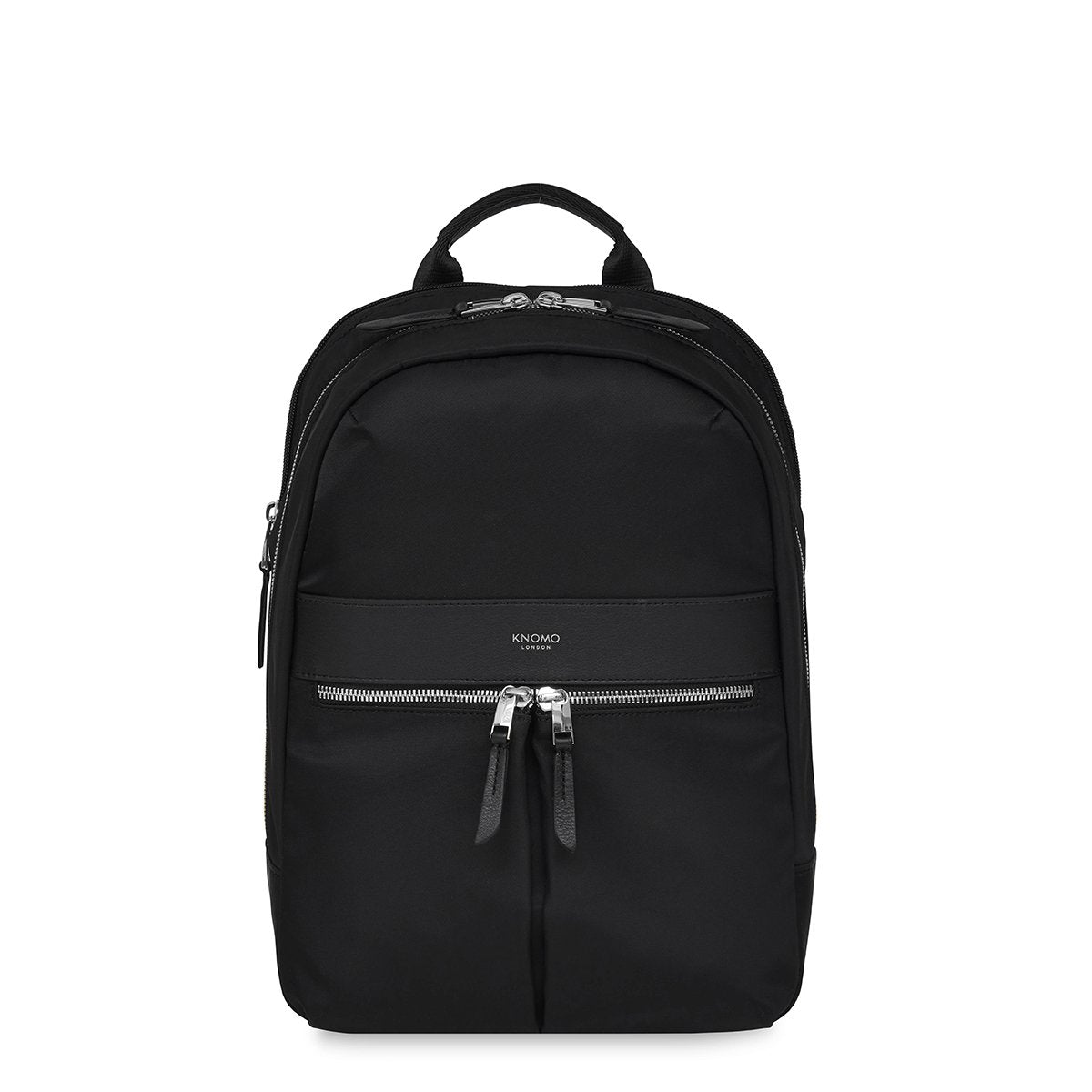 "KNOMO Mini Beaufort Backpack From Front 12"" -  Black 