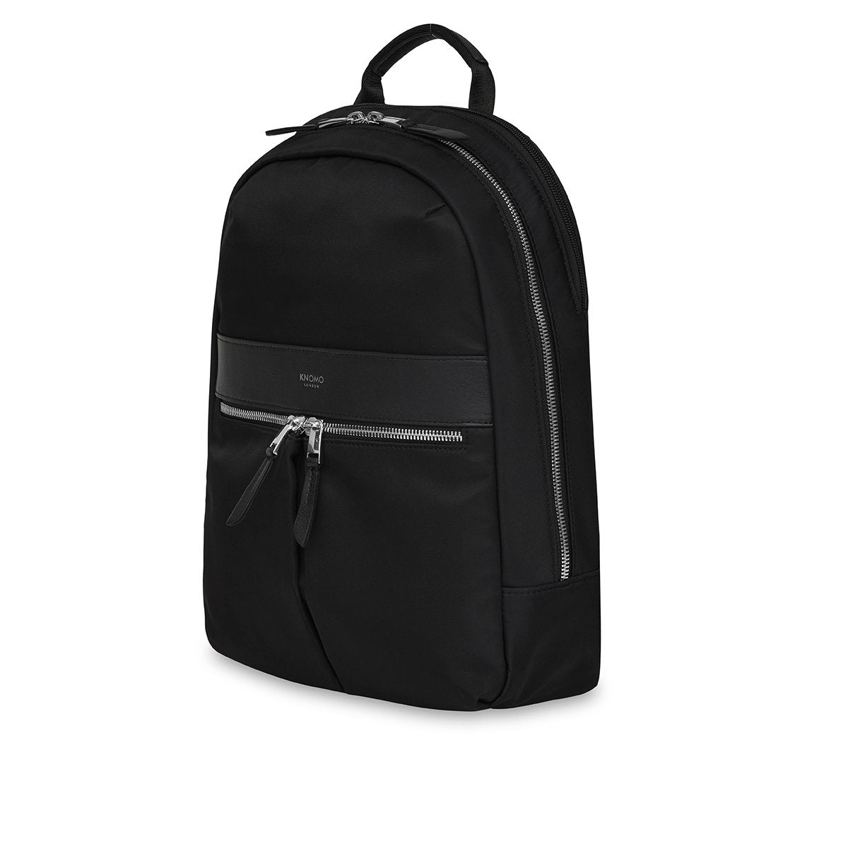"KNOMO Mini Beaufort Backpack Three Quarter View 12"" -  Black 