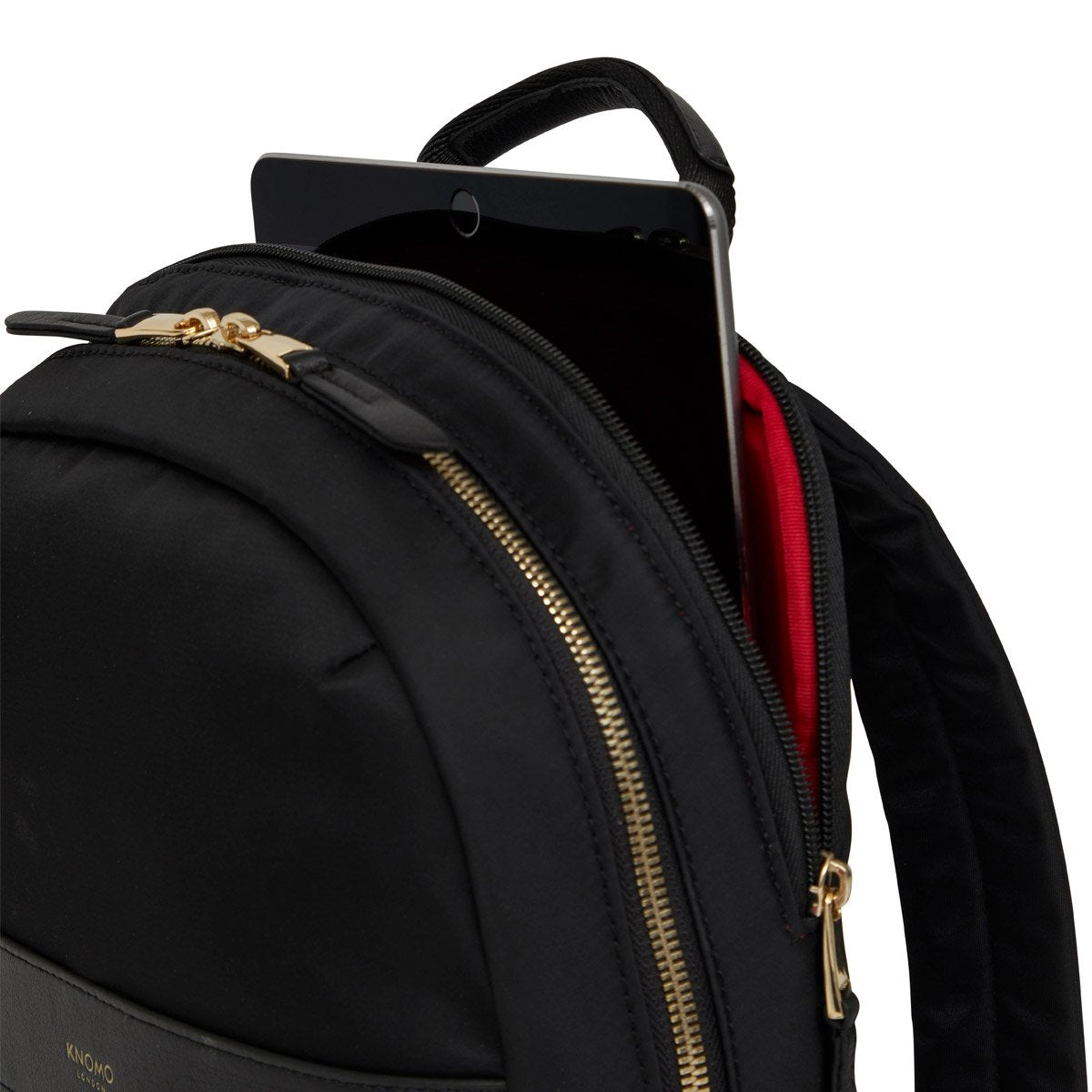 "Mini Beaufort Backpack 12"" - Compartment Backpack 12"" Black – KNOMO"