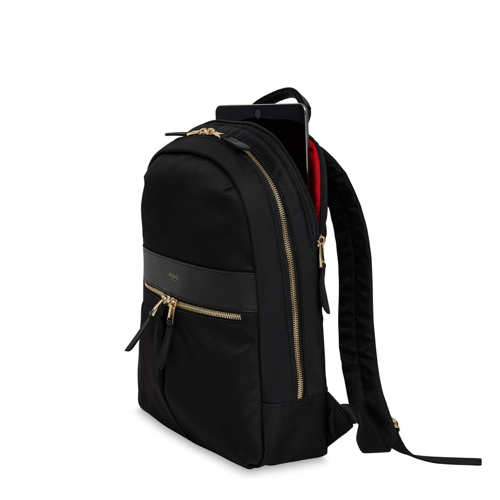 "Mini Beaufort Double-Compartment Backpack 12"" Black – KNOMO"