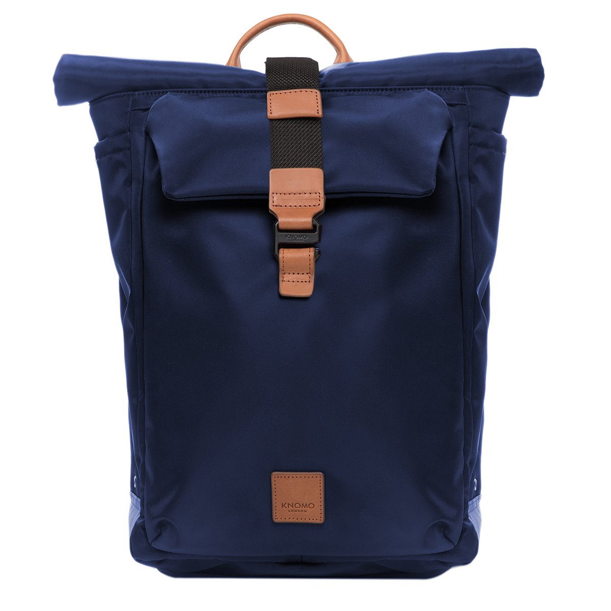 "KNOMO Novello Roll-Top Laptop Backpack From Front 15"" -  Dark Navy 