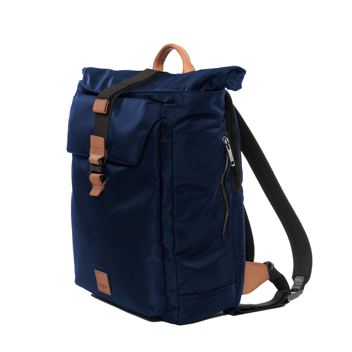 "KNOMO Novello Roll-Top Laptop Backpack Three Quarter View 15"" -  Dark Navy 