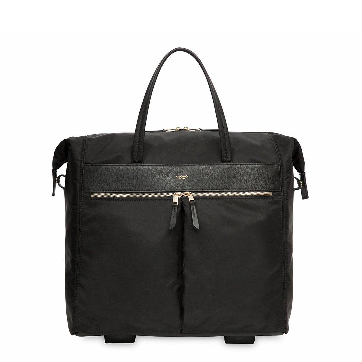 "Sedley 15"" Womens Wheeled Laptop and Travel Tote Bag - Black – KNOMO"