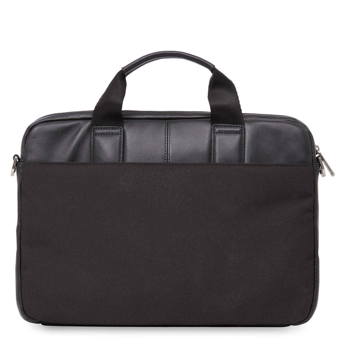 "KNOMO Stanford Laptop Briefcase From Back 13"" -  Black 