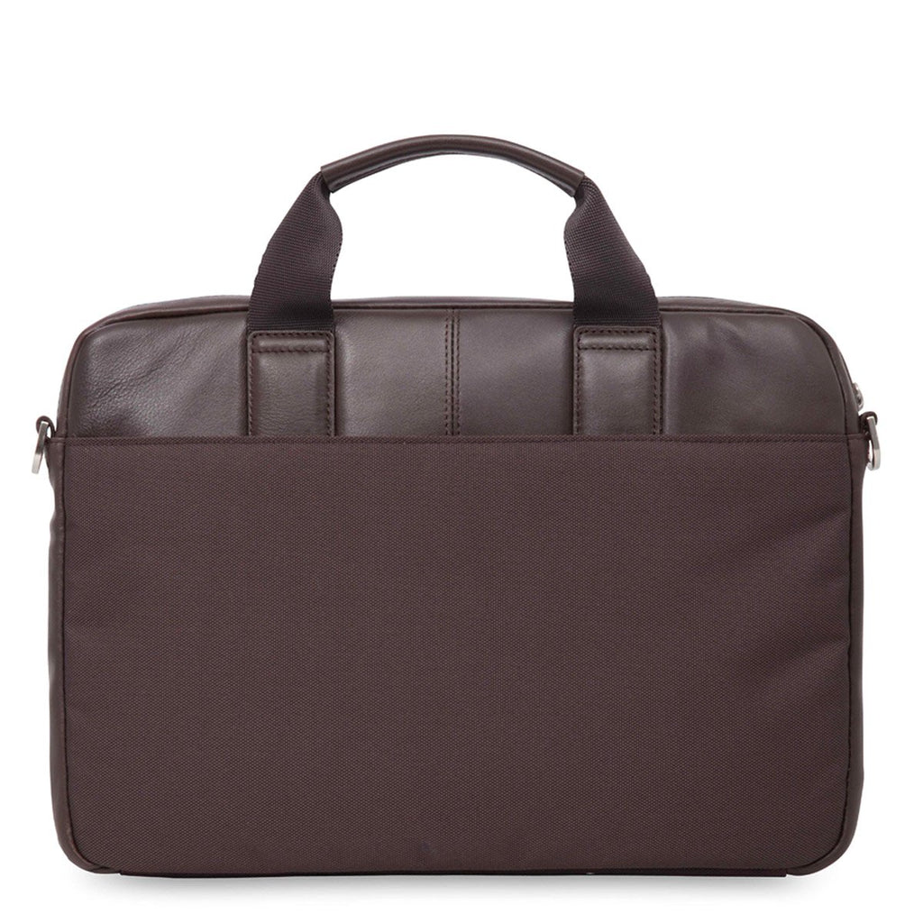 "Stanford Mens 13"" Slim Leather Laptop Briefcase - Brown – KNOMO"