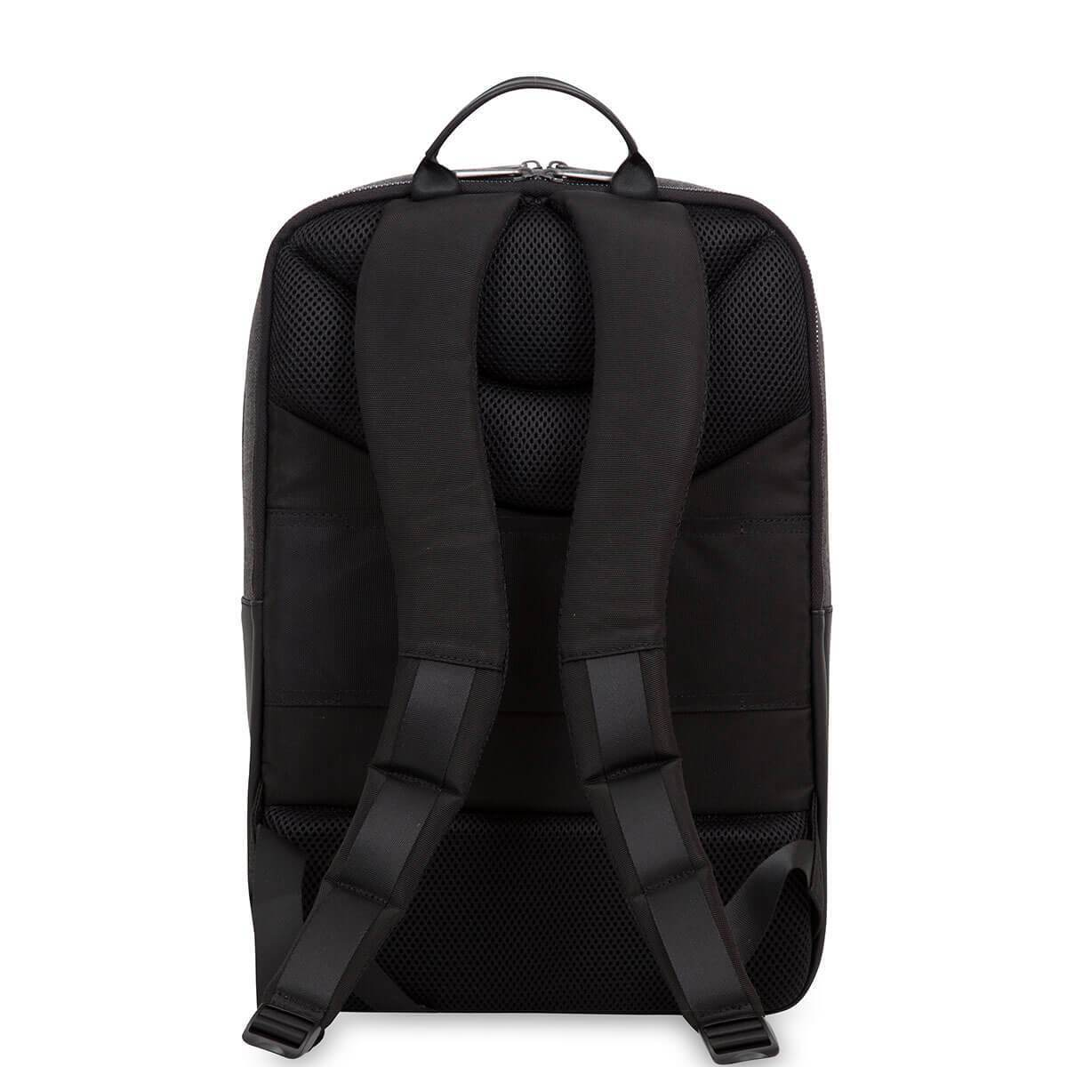 "KNOMO Southampton Laptop Backpack From Back 15"" -  Grey 