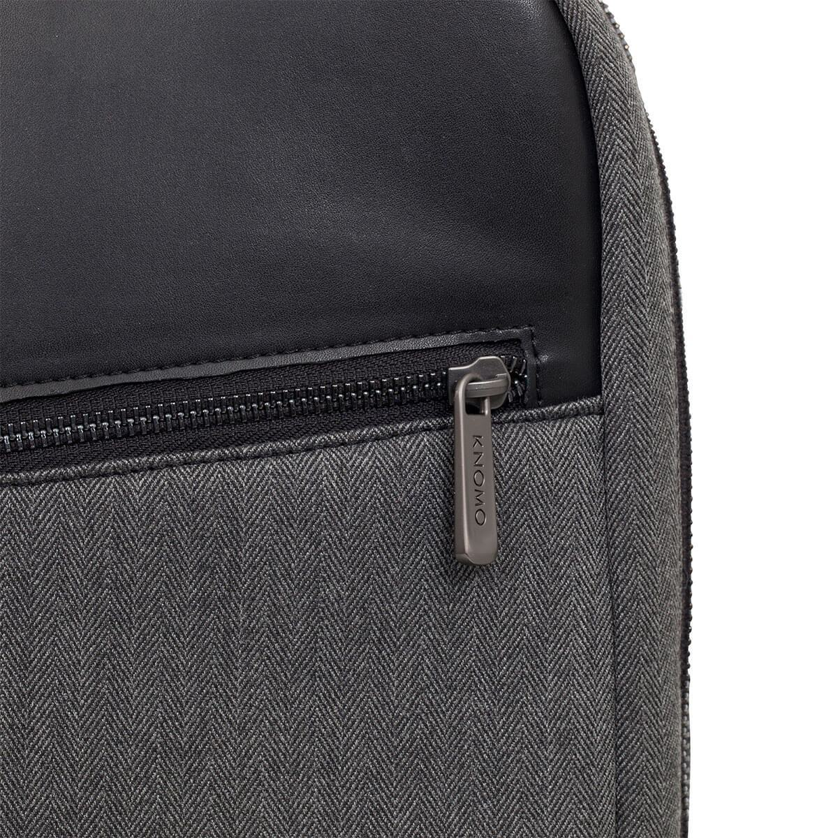 "KNOMO Southampton Laptop Backpack Zip Close Up 15"" -  Grey 