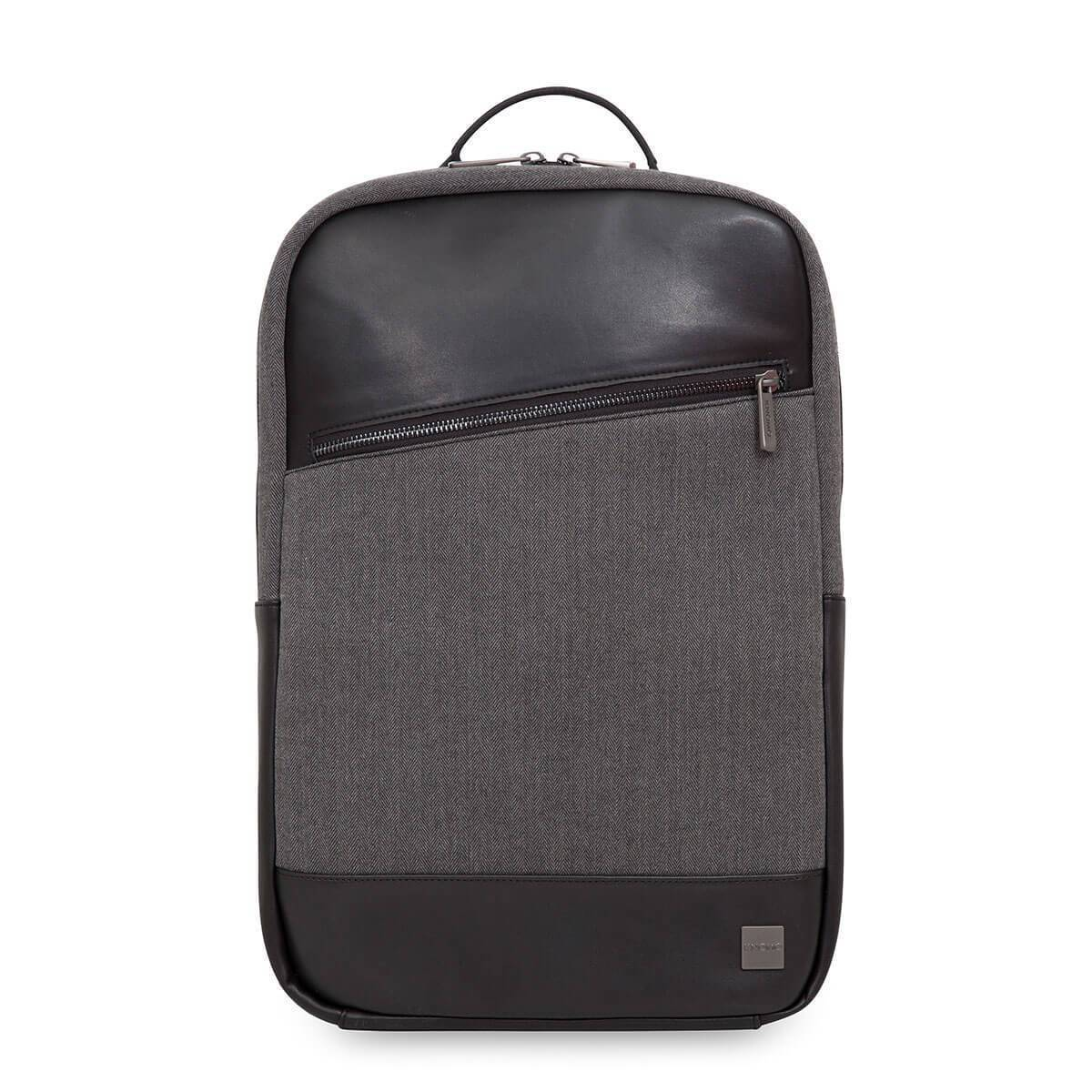 "KNOMO Southampton Laptop Backpack From Front 15"" -  Grey 