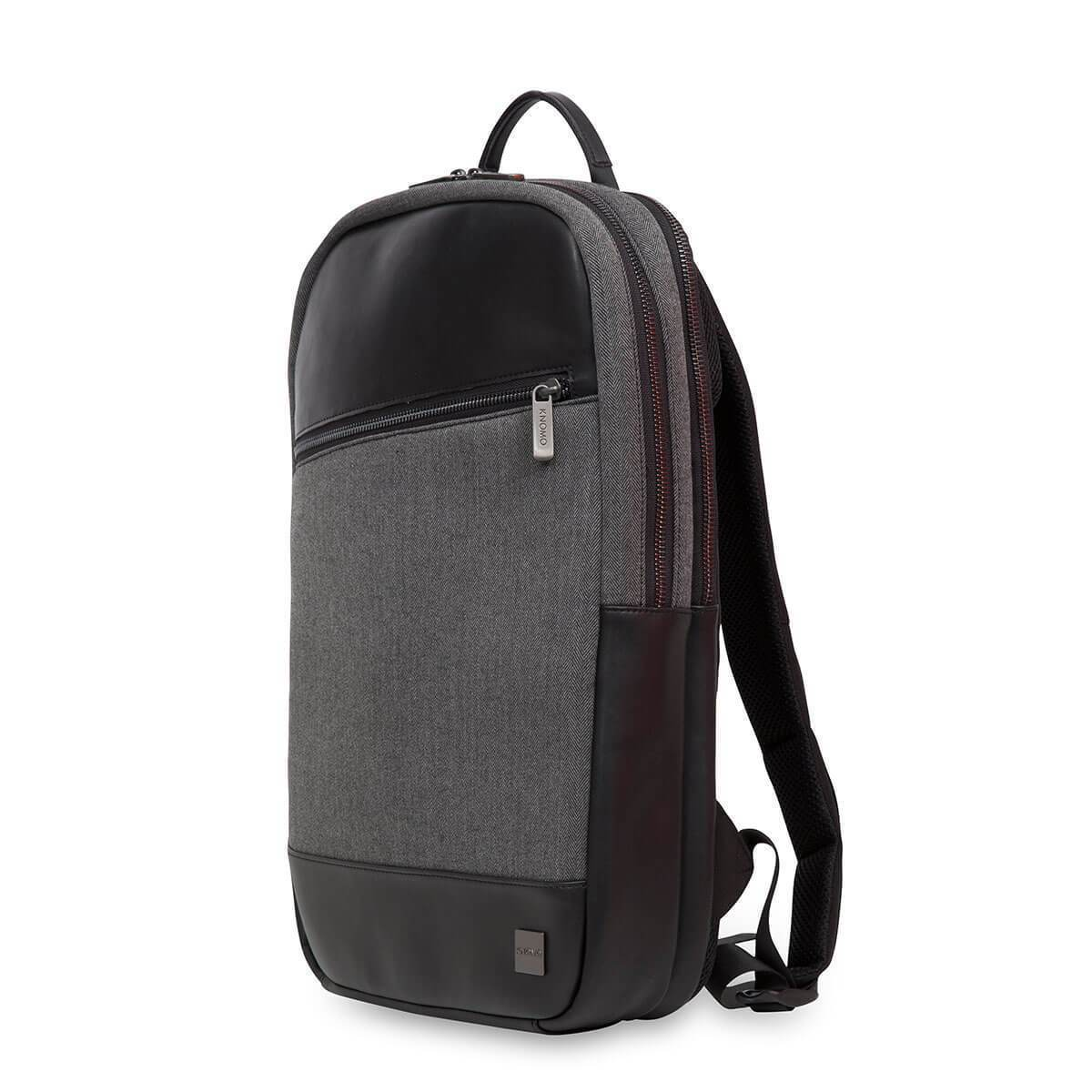 "KNOMO Southampton Laptop Backpack Three Quarter View 15"" -  Grey 