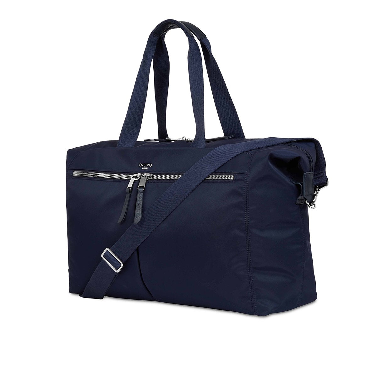 "KNOMO Stratton Duffle/Tote Three Quarter View With Strap 15"" -  Dark Navy 