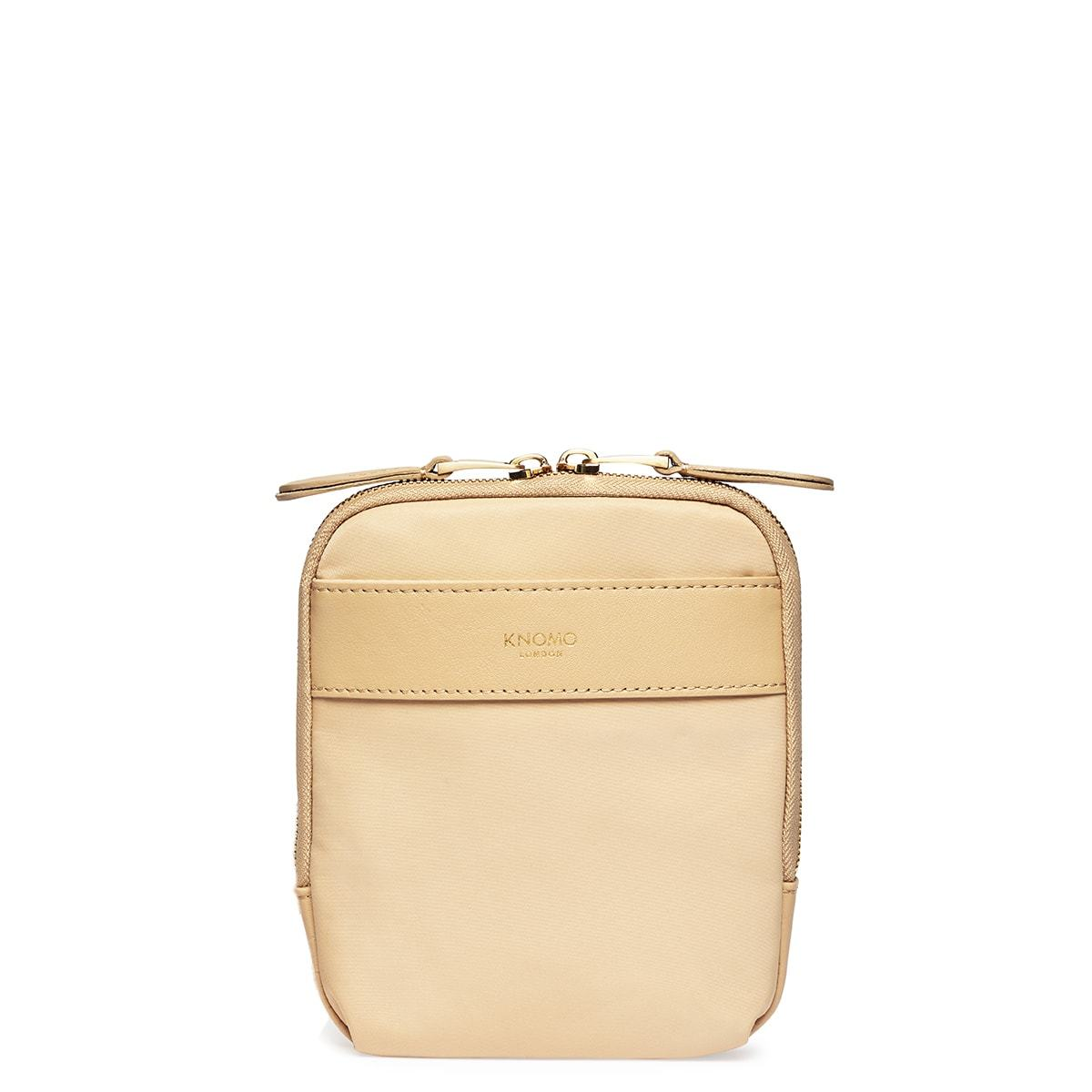 "KNOMO Rex Mini Cross-Body From Front 6"" -  Trench Beige 