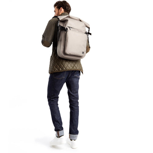 "Water Resistant Roll Top Laptop Backpack 14"" - Hamilton 