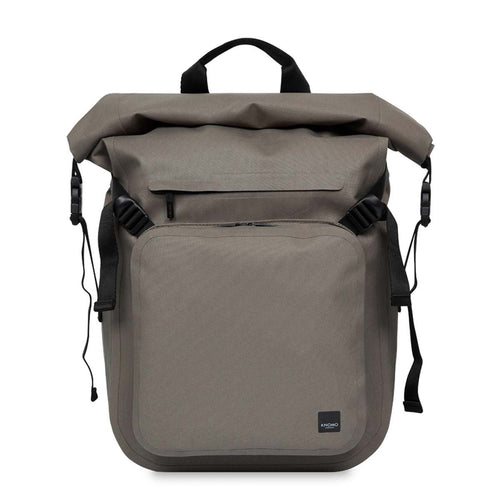 "KNOMO Hamilton Water Resistant Roll Top Laptop Backpack 14"" From Front 