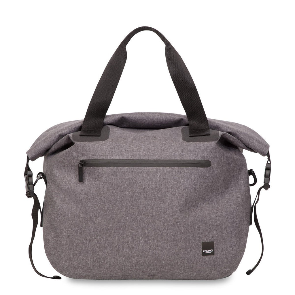 "Hampton Water Resistant Roll Top 14"" Laptop Briefcase - Grey – KNOMO"