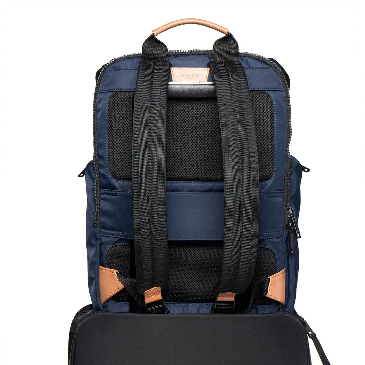 "KNOMO Thurloe Backpack Trolley Sleeve View 15"" -  Dark Navy 