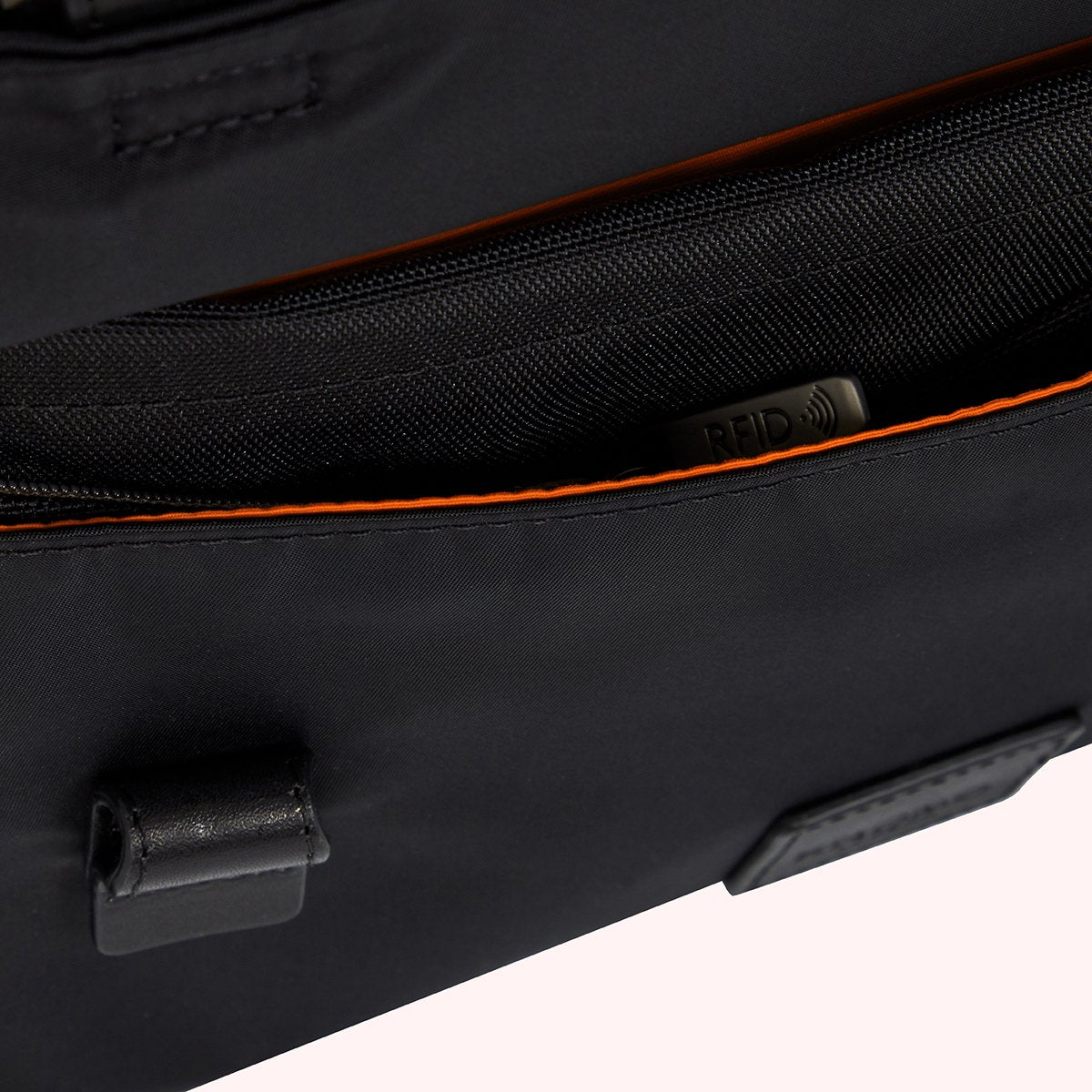"KNOMO Tournay Laptop Briefcase Close Up RFID 15"" -  Black 