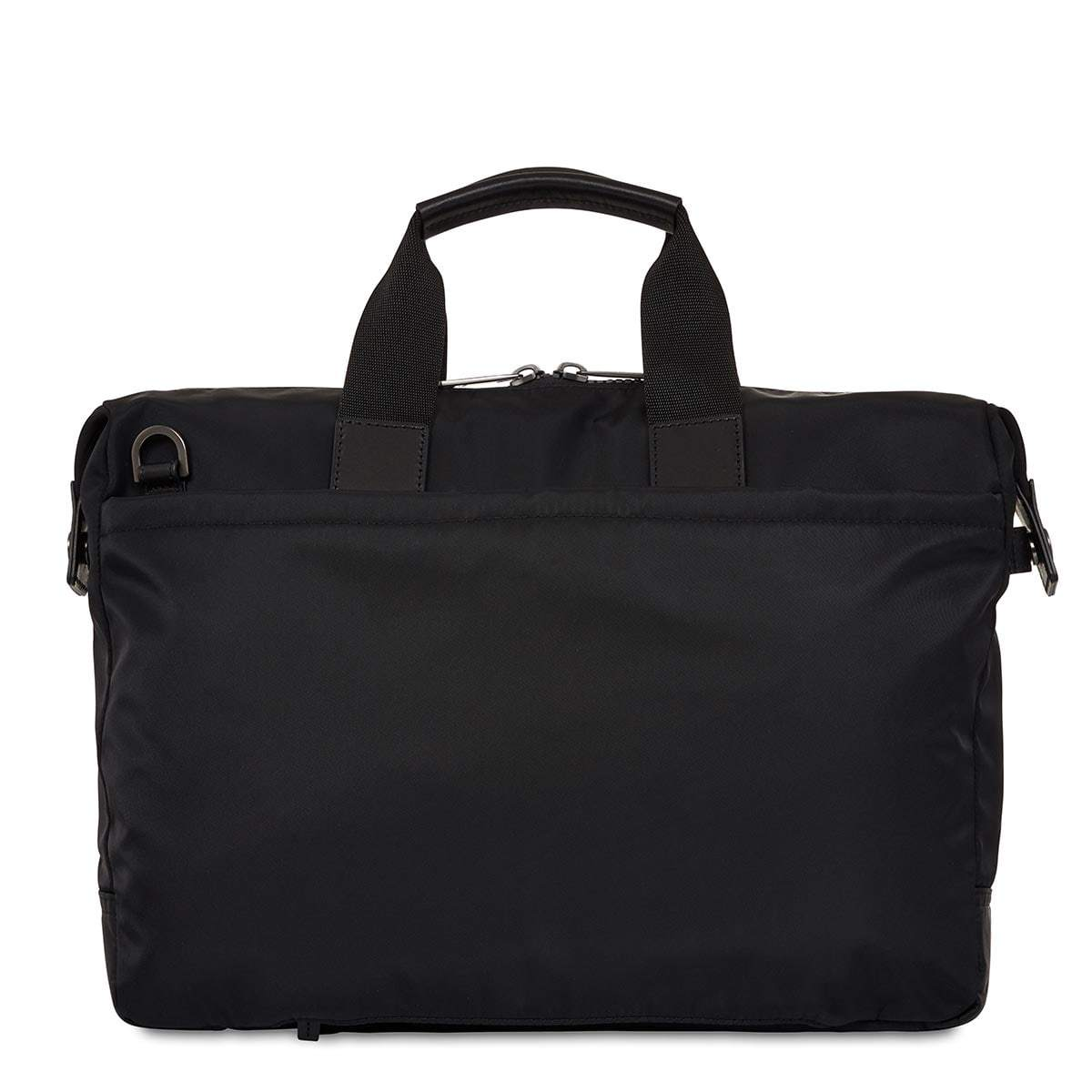 "KNOMO Tournay Laptop Briefcase From Back 15"" -  Black 