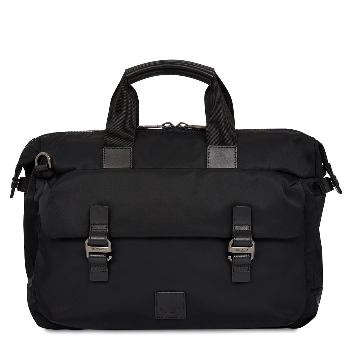 "KNOMO Tournay Laptop Briefcase From Front 15"" -  Black 