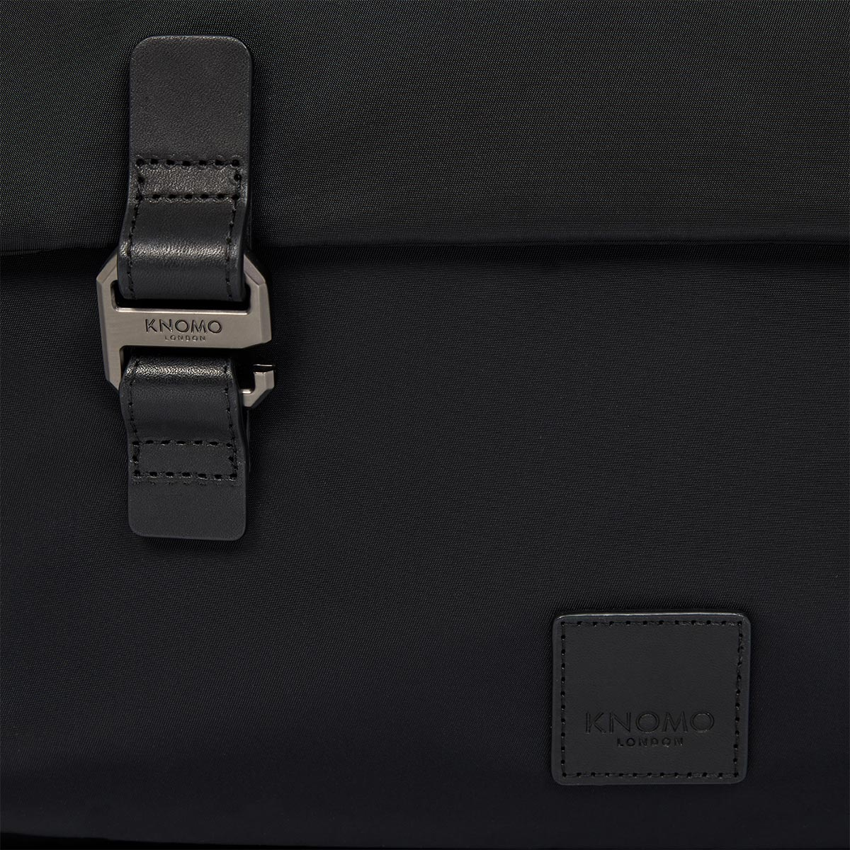 "KNOMO Tournay Laptop Briefcase Close Up Logo and Buckle 15"" -  Black 