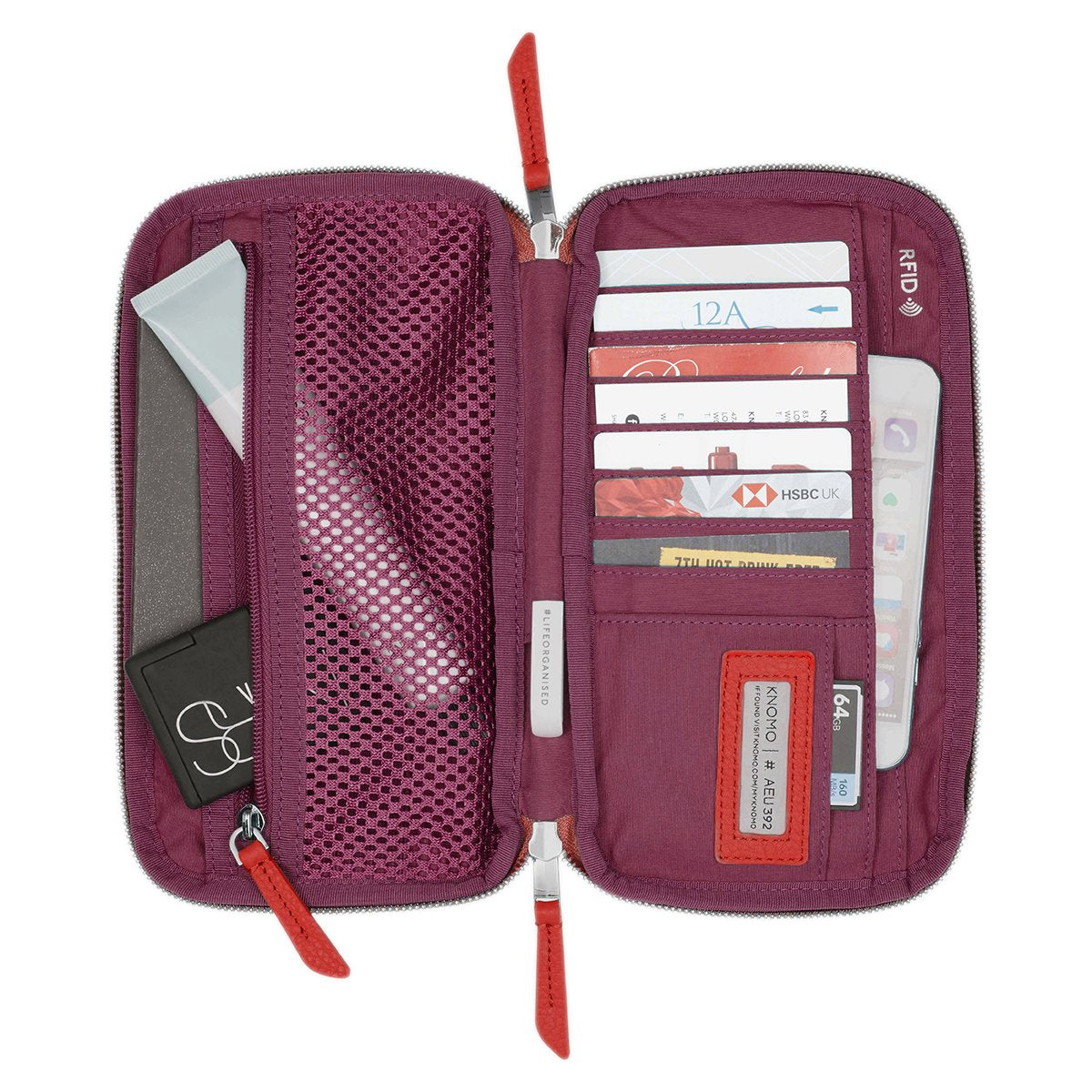 Knomad Travel Wallet Organiser For Travel -  | KNOMO