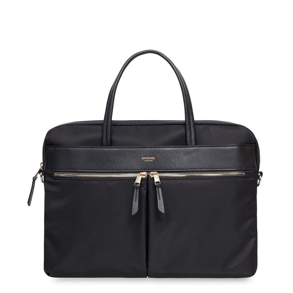 "Hanover Womens 14"" Slim Soft Laptop Briefcase - Black – KNOMO"