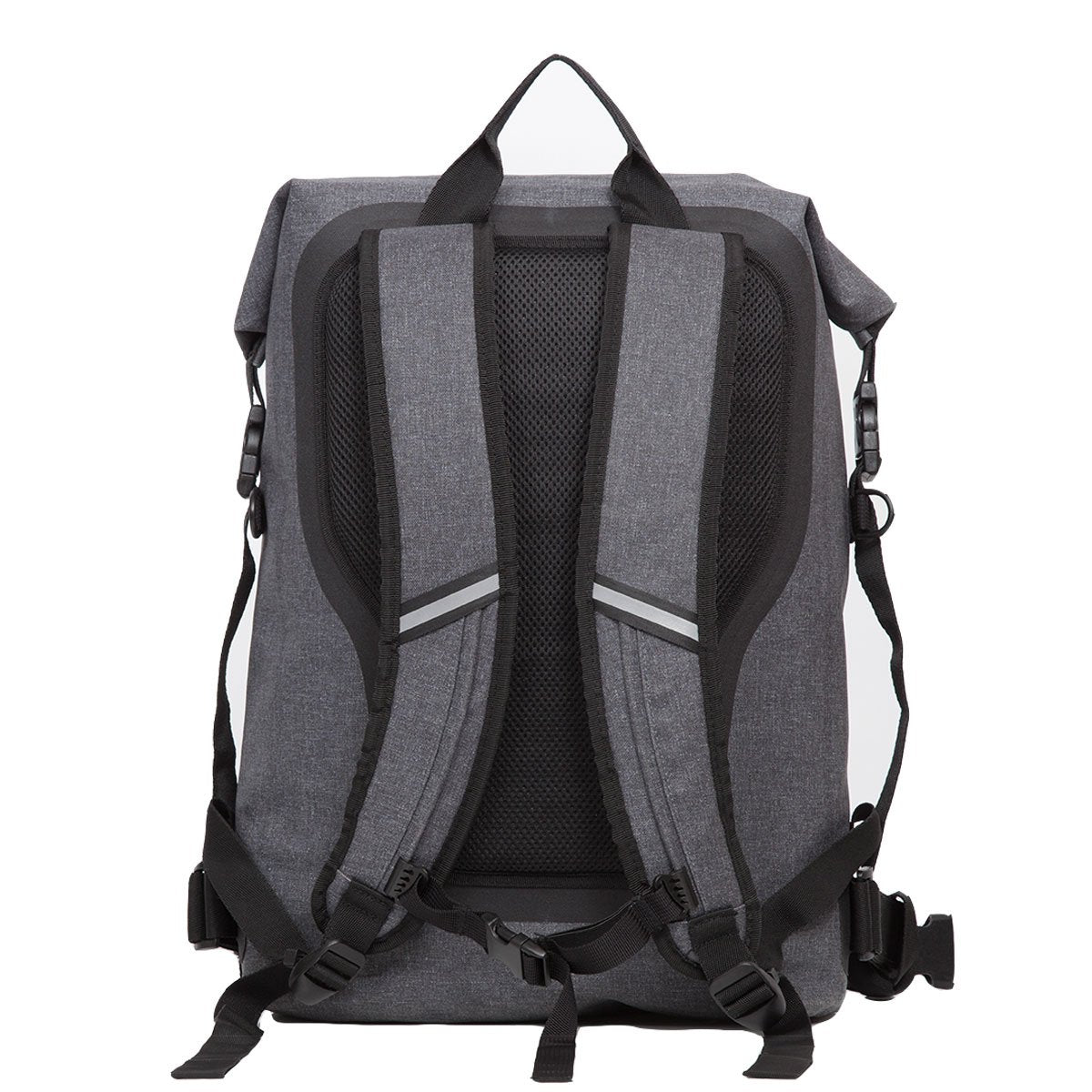 "KNOMO Cromwell Roll-Top Laptop Backpack From Back 14"" -  Grey 