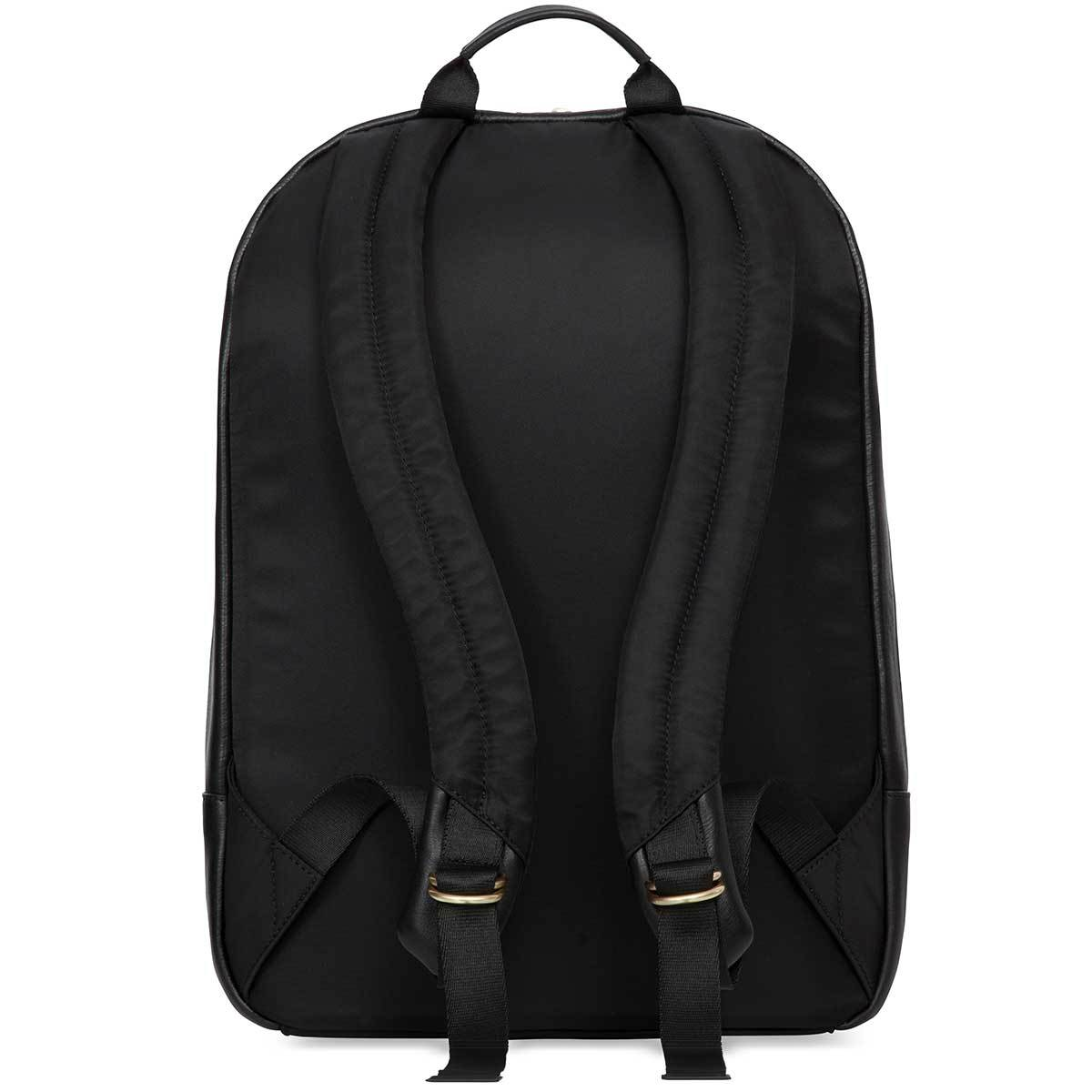 "KNOMO Beaux Laptop Backpack From Back 14"" -  Black 