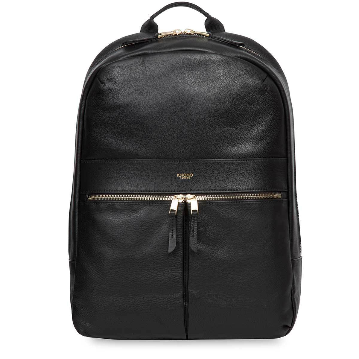 "KNOMO Beaux Laptop Backpack From Front 14"" -  Black 