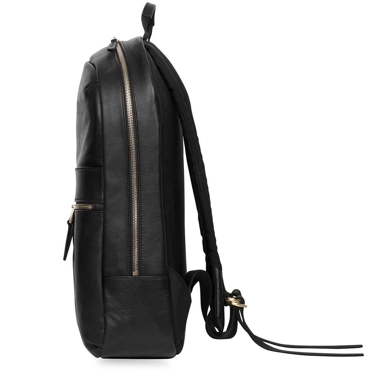 "KNOMO Beaux Laptop Backpack From Side 14"" -  Black 
