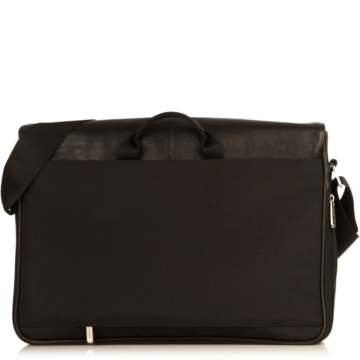 "KNOMO Bungo Laptop Messenger Bag From Back 15.6"" -  Black 