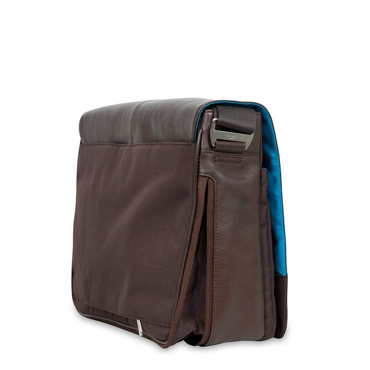 "KNOMO Bungo Laptop Messenger Bag Expandable Detail From Side 15.6"" -  Brown 