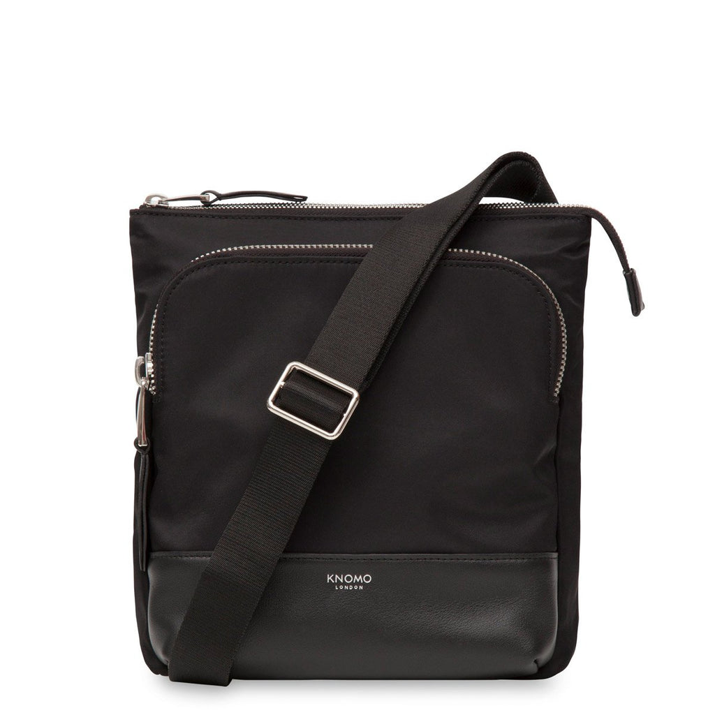 Carrington Mini Leather Cross Body Bag for Tablet - Black – KNOMO