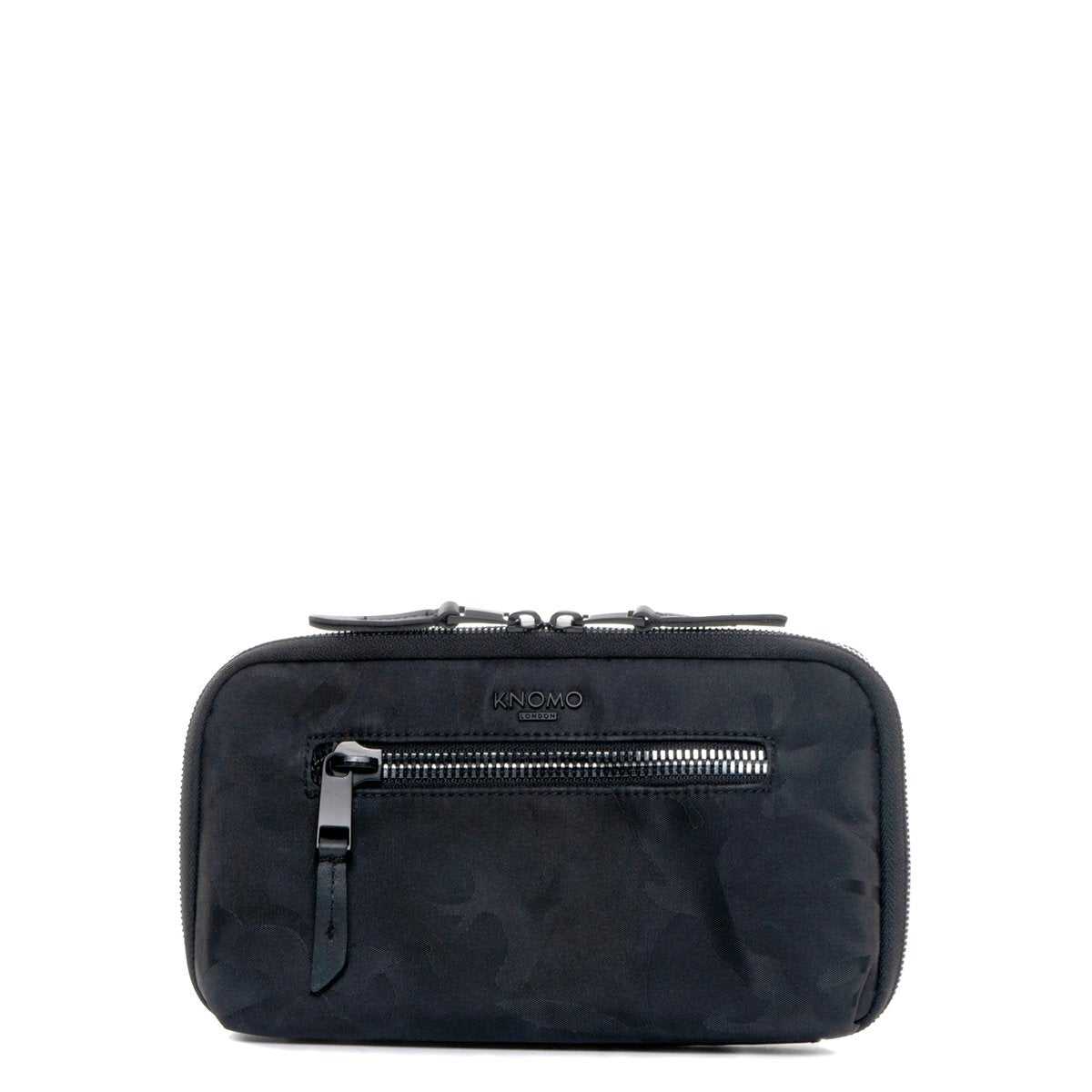 "KNOMO Knomad Travel Wallet Travel Organiser From Front 8"" -  Black Camouflage 