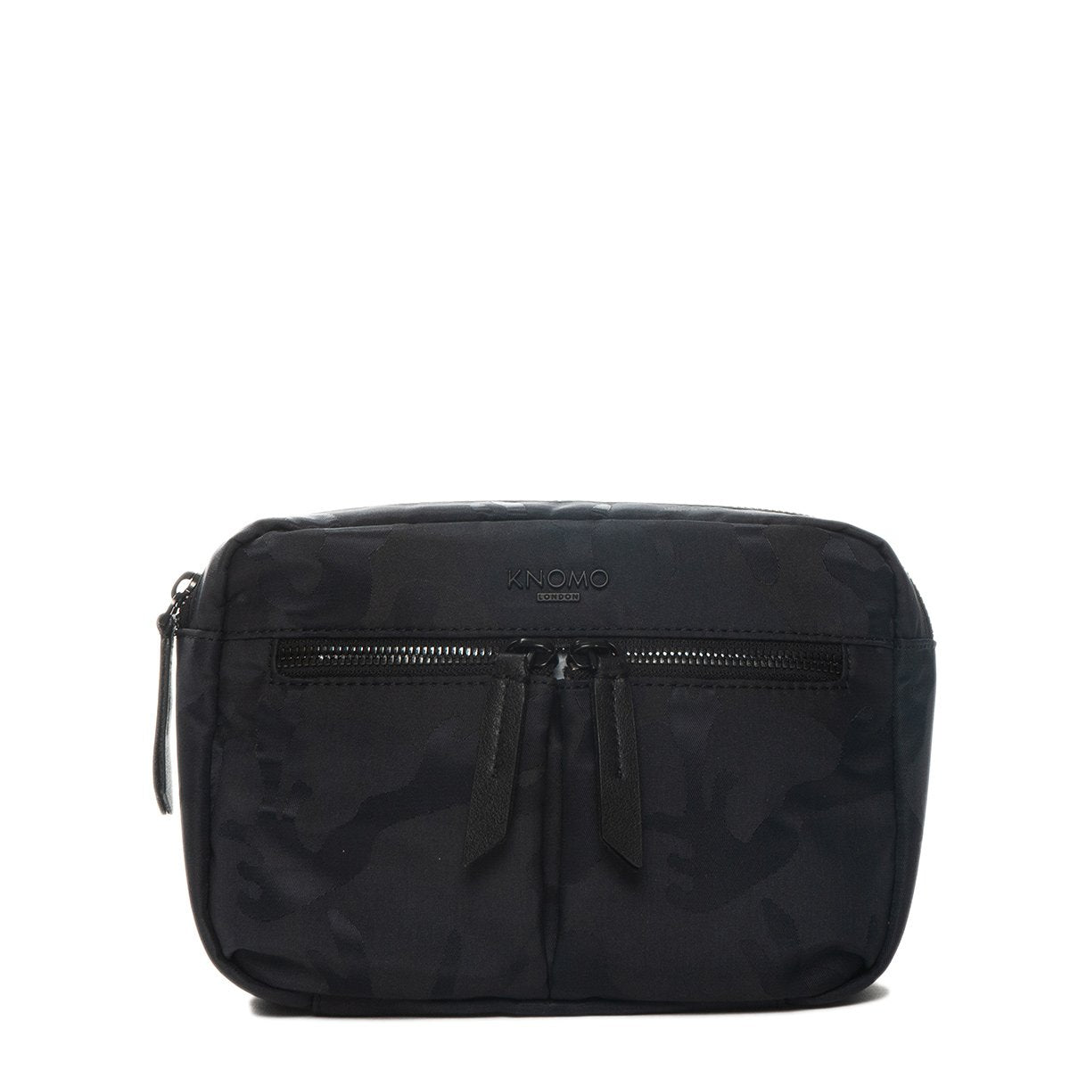 "KNOMO Hanoi Mini Cross-Body From Front 10.5"" -  Black Camouflage 