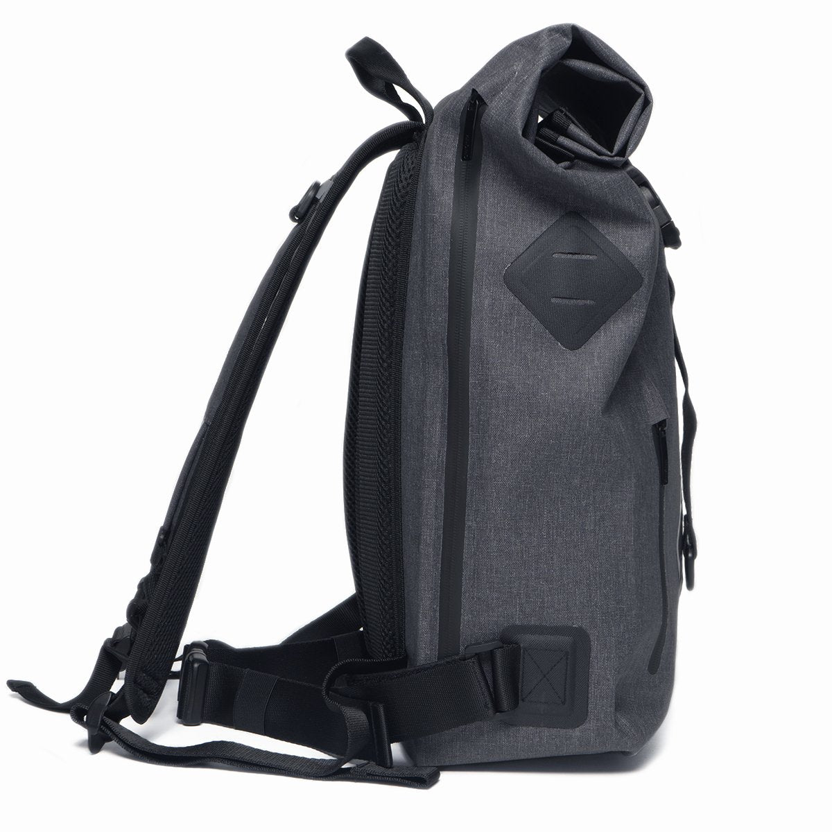 "KNOMO Kew Roll-Top Laptop Backpack From Side 15"" -  Grey 